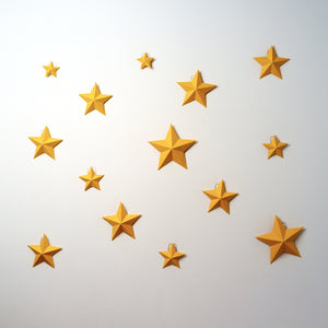 Moon and Stars (x12) Kits - Low Poly Crafts
