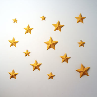 Stars (x14) Kit - Low Poly Crafts