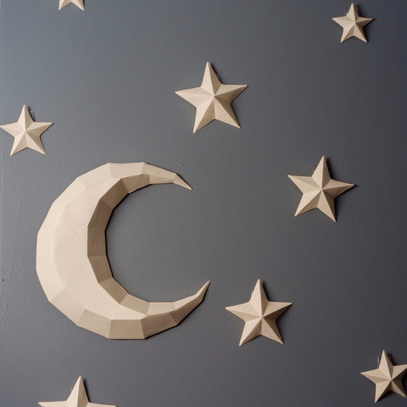 Moon and Stars Kits - Low Poly Crafts