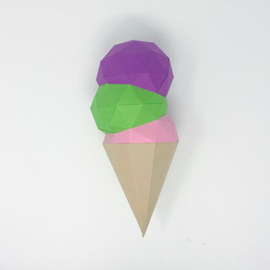 Free Icecream Cone - Low Poly Crafts