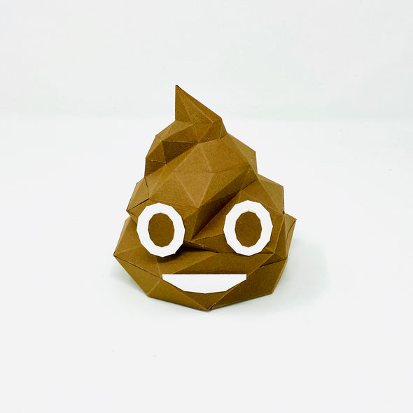 Free Poop Emoji - Low Poly Crafts
