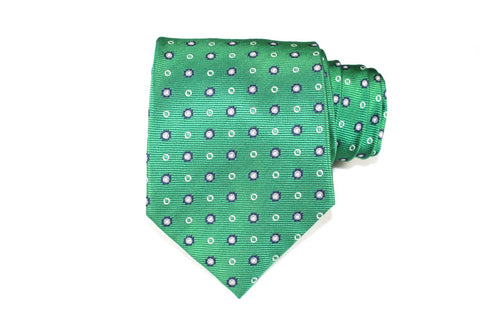 Green Light Silk Tie - Knot Tied Down