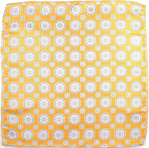 California Poppy Floral Silk Pocket Square - Knot Tied Down