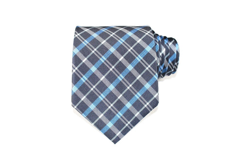 Babbling Brook Silk Tie - Knot Tied Down