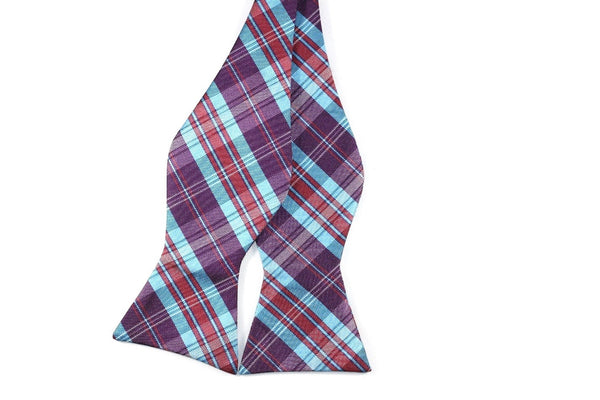 Plum and Blueberry Silk Bow Tie