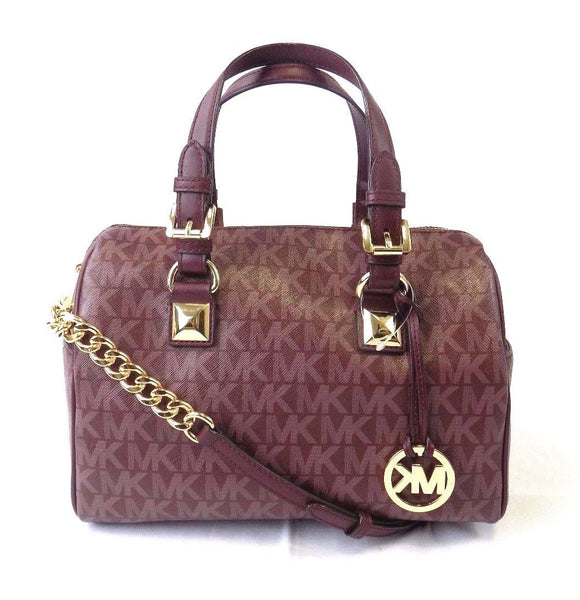 NEW WOMENS MICHAEL KORS GRAYSON MEDIUM CHAIN SATCHEL HANDBAG BAG PURSE