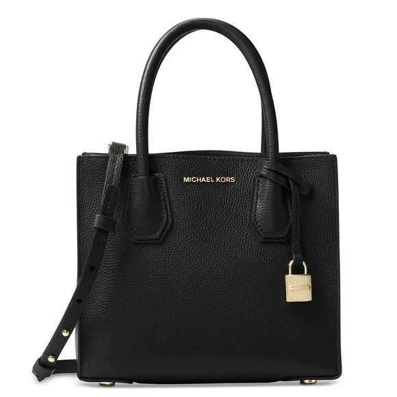 Michael Kors  Mercer Black Leather Satchel Handbag