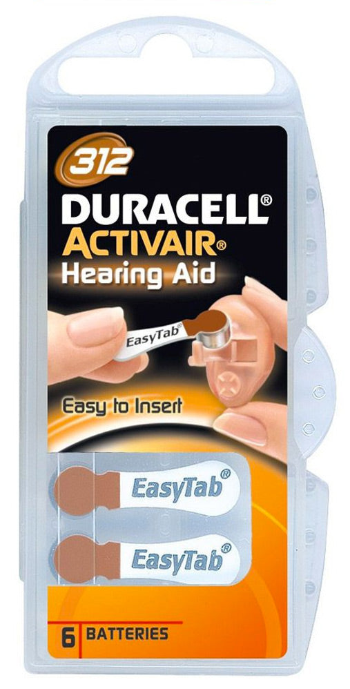 Duracell Activeair® Hearing Aid Batteries - Size 312 - 80 Batteries
