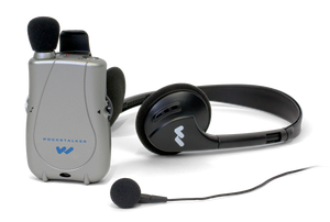 Williams Sound Pocketalker Ultra Duo with Standard Headphone + Single Mini Earbud