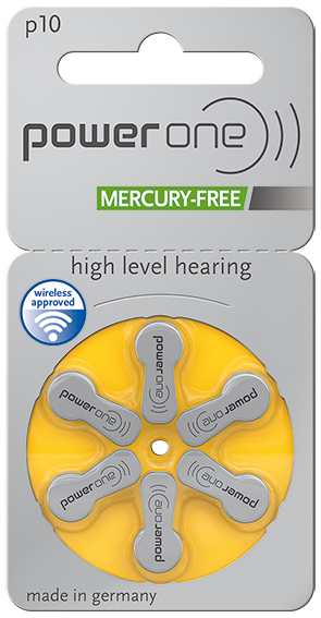 Power One Hearing Aid Batteries - Size 10 (p10) - 60 Batteries