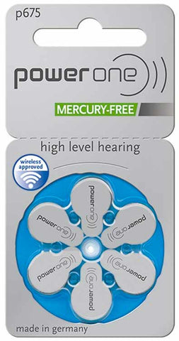 Power One Hearing Aid Batteries - Size 675 (p675) - 60 Batteries