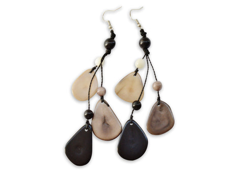 Black Tagua Nut Earrings