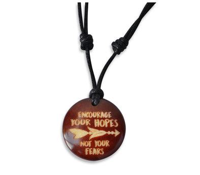 Encourage Your Hopes Not Your Fears - Necklace, Necklace, Hola Hola® - Hola Hola™