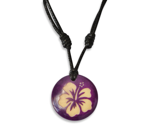 Hibiscus Flower - Necklace, Necklace, Hola Hola® - Hola Hola™