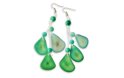 Mint Tagua Nut Earrings
