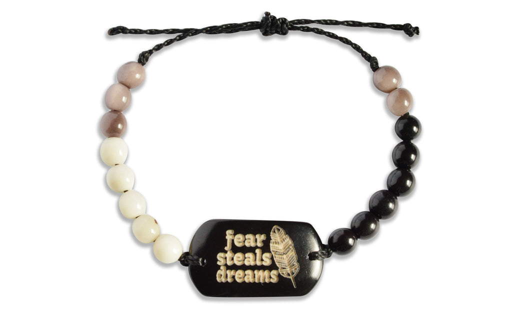 Fear Steals Dreams - Beaded, Beaded Bracelet, Hola Hola® - Hola Hola™