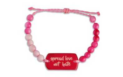 Spread Love Not Hate - Beaded, Beaded Bracelet, Hola Hola® - Hola Hola™