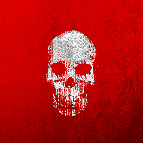 OK Skull Red No. 2 — Acrylic Block