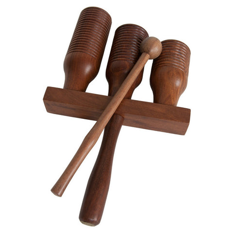 Triple Wooden Agogo Bell