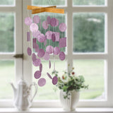 Mini Capiz Wind Chime, Raspberry