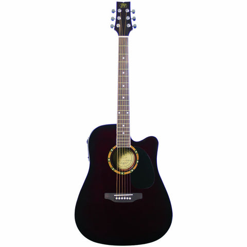 JB Player JBEA25WB Acoustic Electric Guitar, Walnut