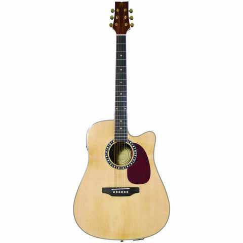 JB Player JBEA85 Acoustic Electric Guitar, Natural