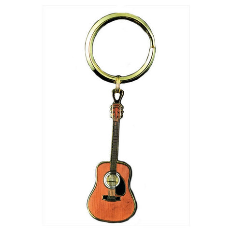 Acoustic Guitar Keychain