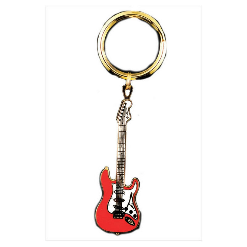 Electric Guitar Keychain, Fender Stratocaster