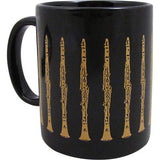 Clarinet Coffee Mug, Black