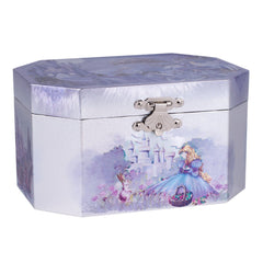 Castle Princess Musical Jewelry Box, Silver & Purple