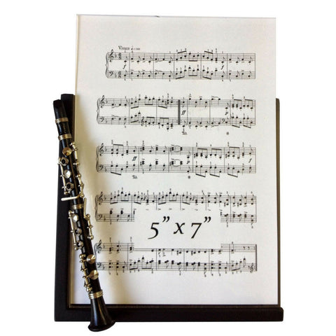 Music Instrument Picture Frame, Clarinet