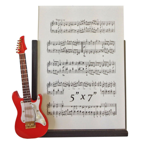 Music Instrument Picture Frame, Red Electric Guitar