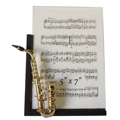 Music Instrument Picture Frame, Saxophone