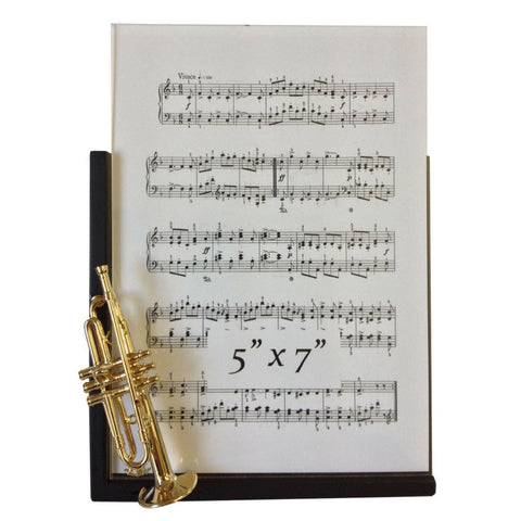 Music Instrument Picture Frame, Trumpet