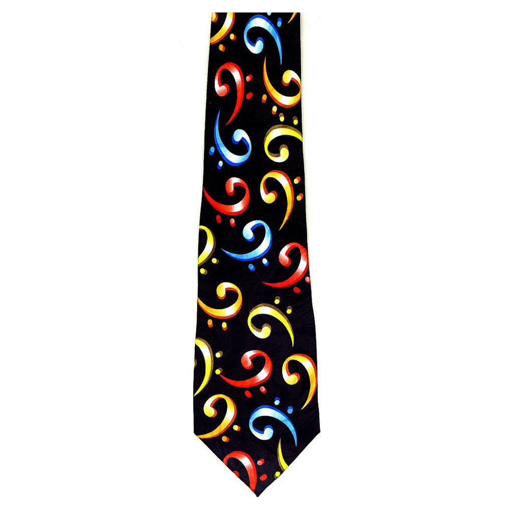 Colorful Bass Clefs Tie