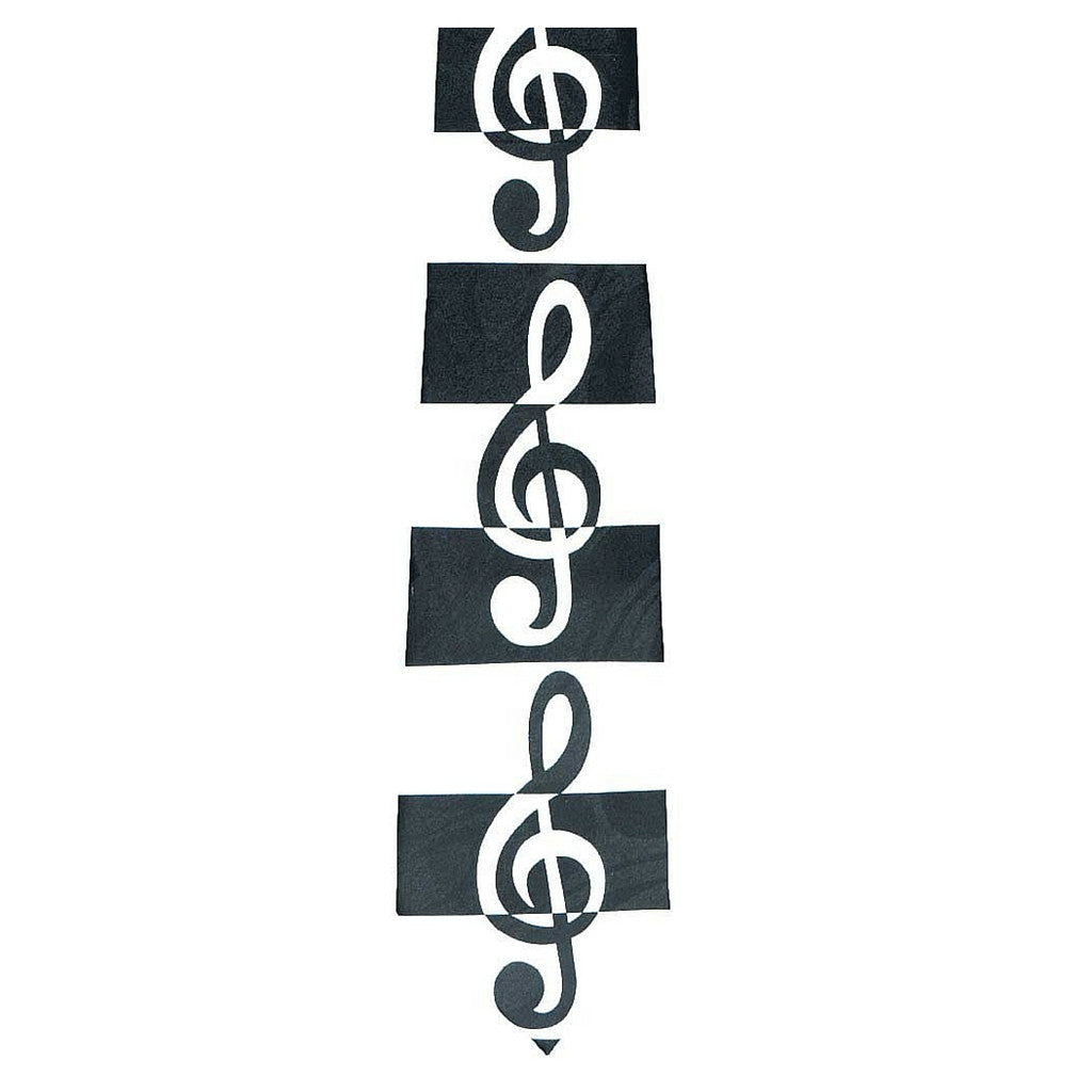 Black and White G-Clef Tie
