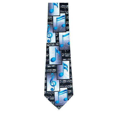 Blue Block Notes Tie
