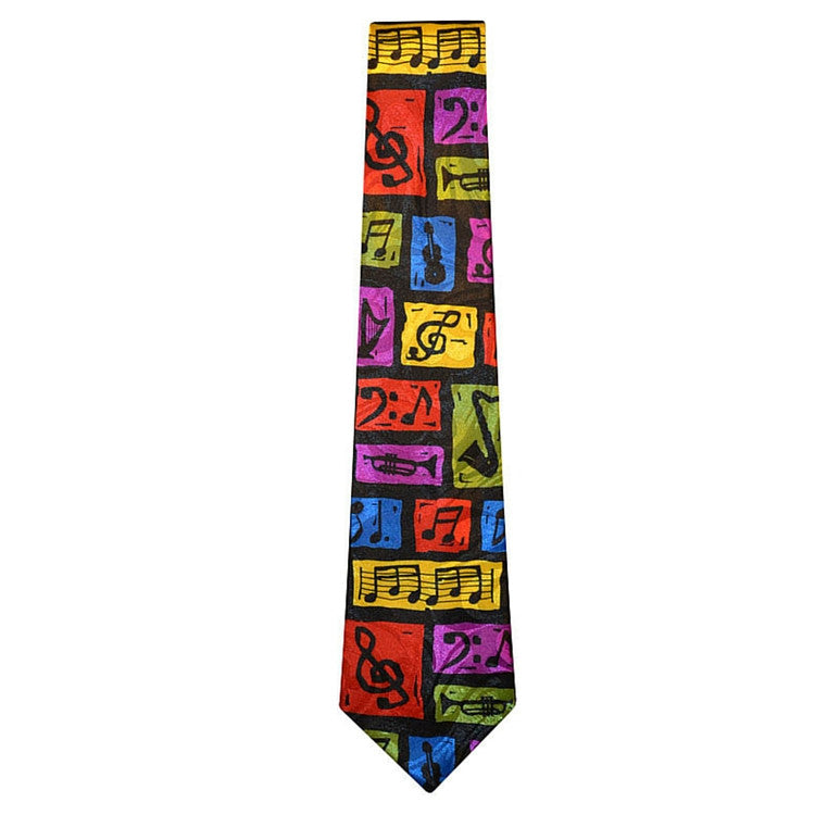 Graphic Music Composition Tie