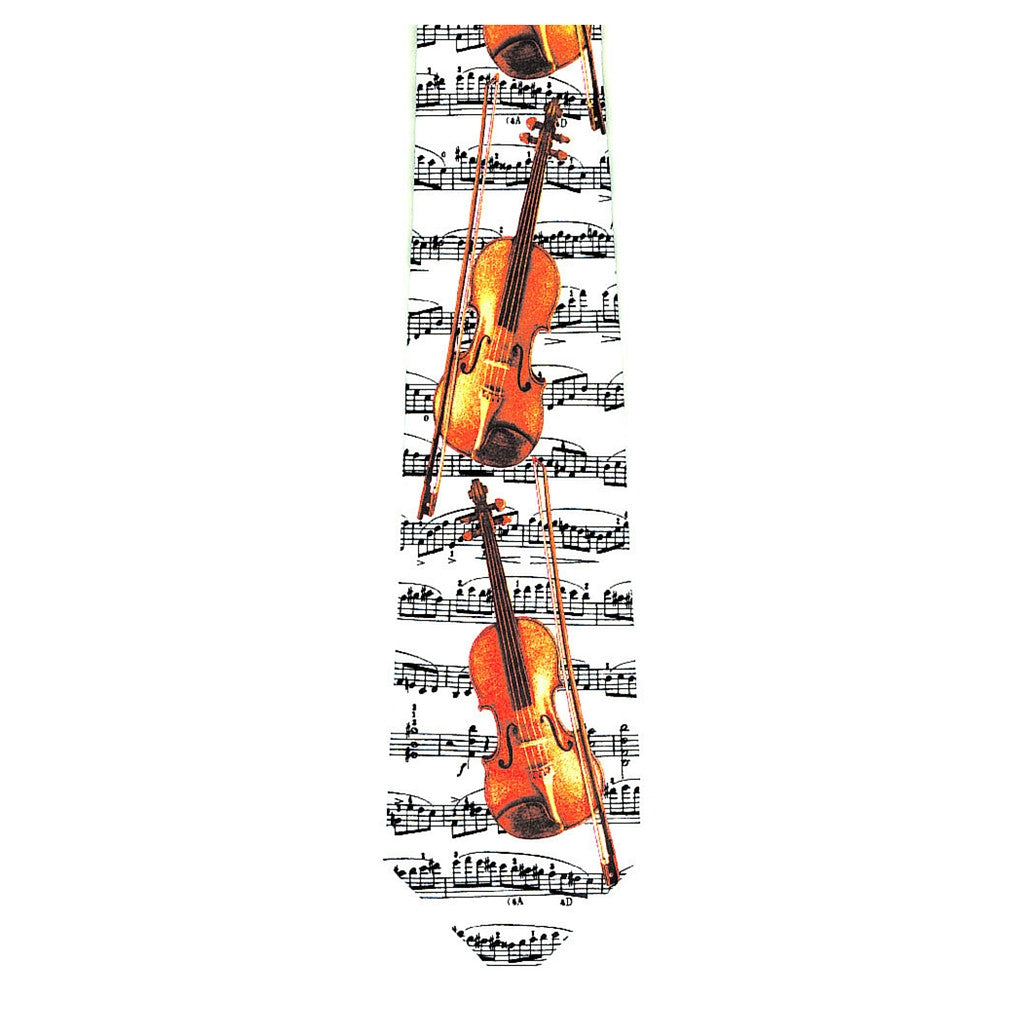 Violins on Sheet Music Tie