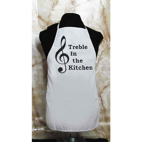 "Apron, ""Treble in the Kitchen"""