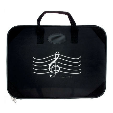 Nylon Zippered Briefcase, Treble Clef