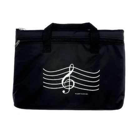 Double Zip Portfolio Bag, Treble Clef (Specify Color)