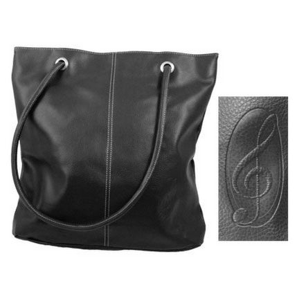 Pebblestone Treble Clef Tote Bag, Classic Black