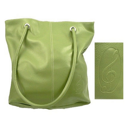 Pebblestone Treble Clef Tote Bag, Spring Green