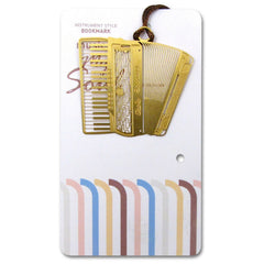 Metallic Gold Bookmark, Accordion