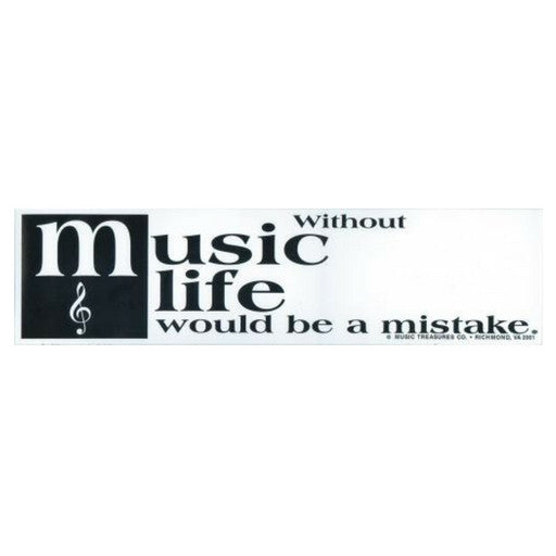 Bumper Sticker, Without Music