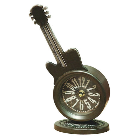 Rustic Guitar Table Clock