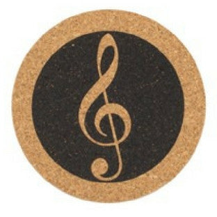 Cork Treble Clef Coaster