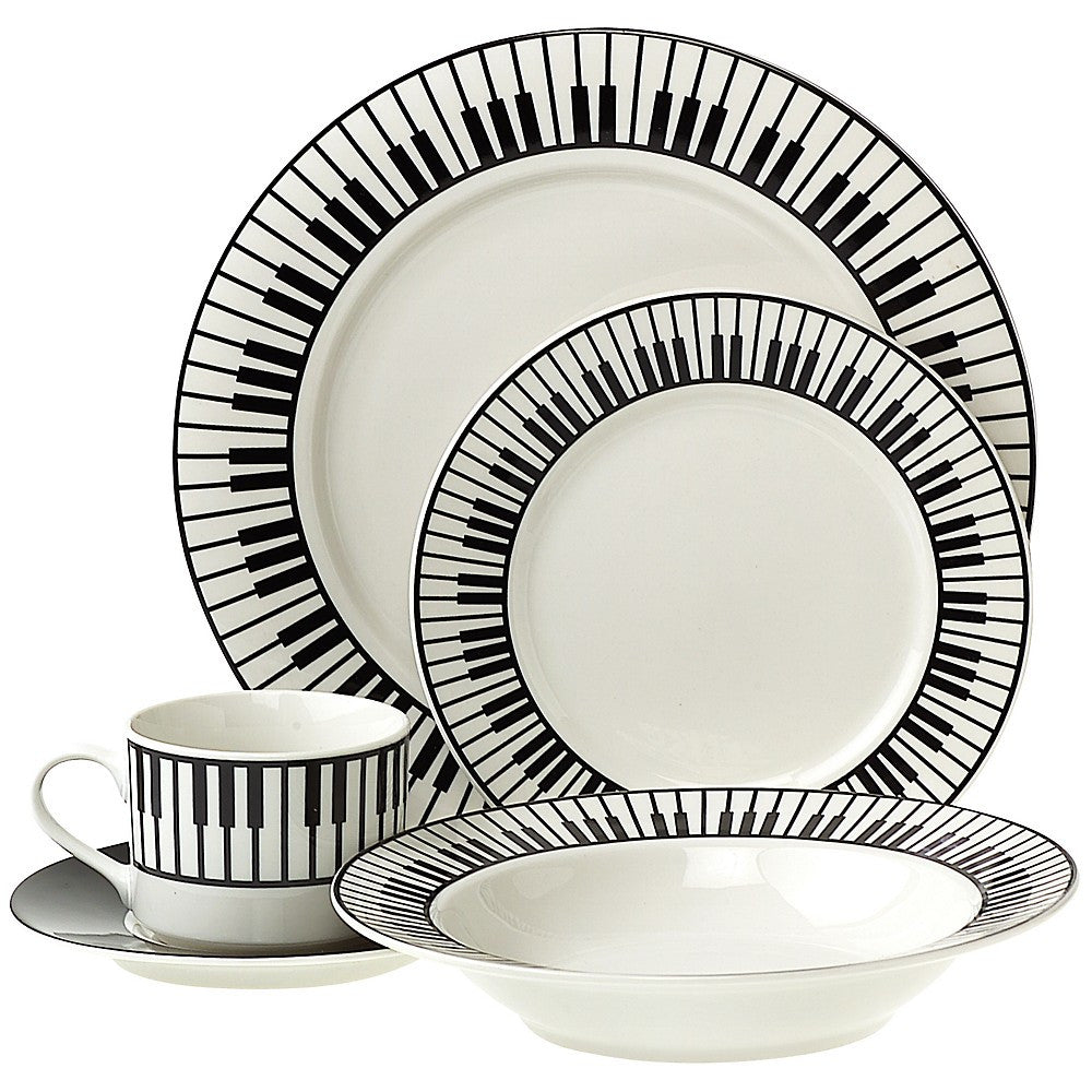 20-Piece Keyboard Dinnerware Set