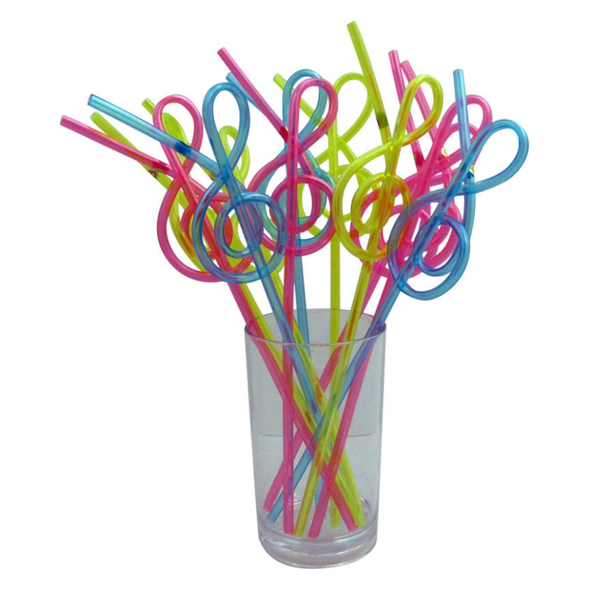 Drinking Straw, Treble Clef Design